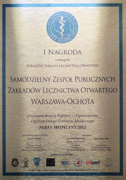 I nagroda 2012